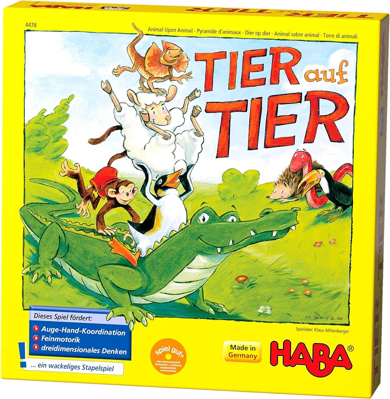HABA 4478 Tier auf Tier - Juego Infantil para apilar Animales (en ...