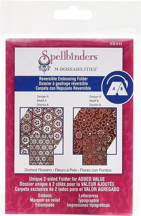 Spellbinders m-bossabilities valor es-003 2 Lados Reversible Embossing Carpeta