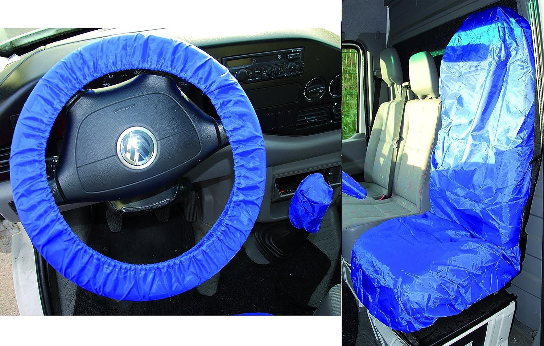BGS 66531 Universal Sitz- und Lenkrad-Schonbezug-Set, Polyester 3 teilig