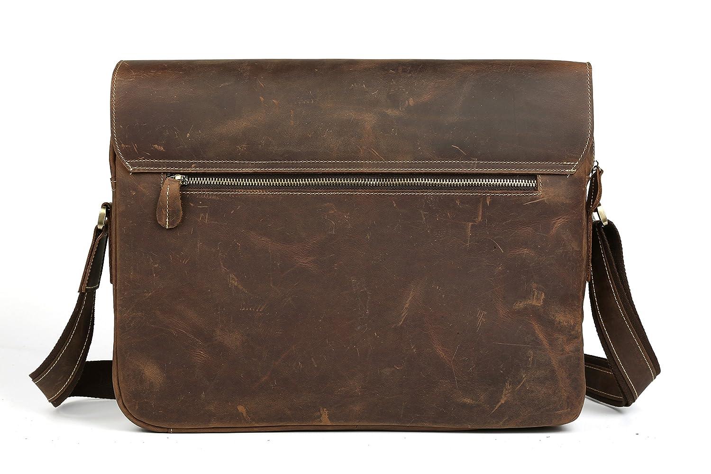fivemax Crazy Horse de piel funda para tablet, ordenador portátil maletín Messenger Bag para iPad Pro/ordenador portátil/Macbook Pro de 15 pulgadas, con ...