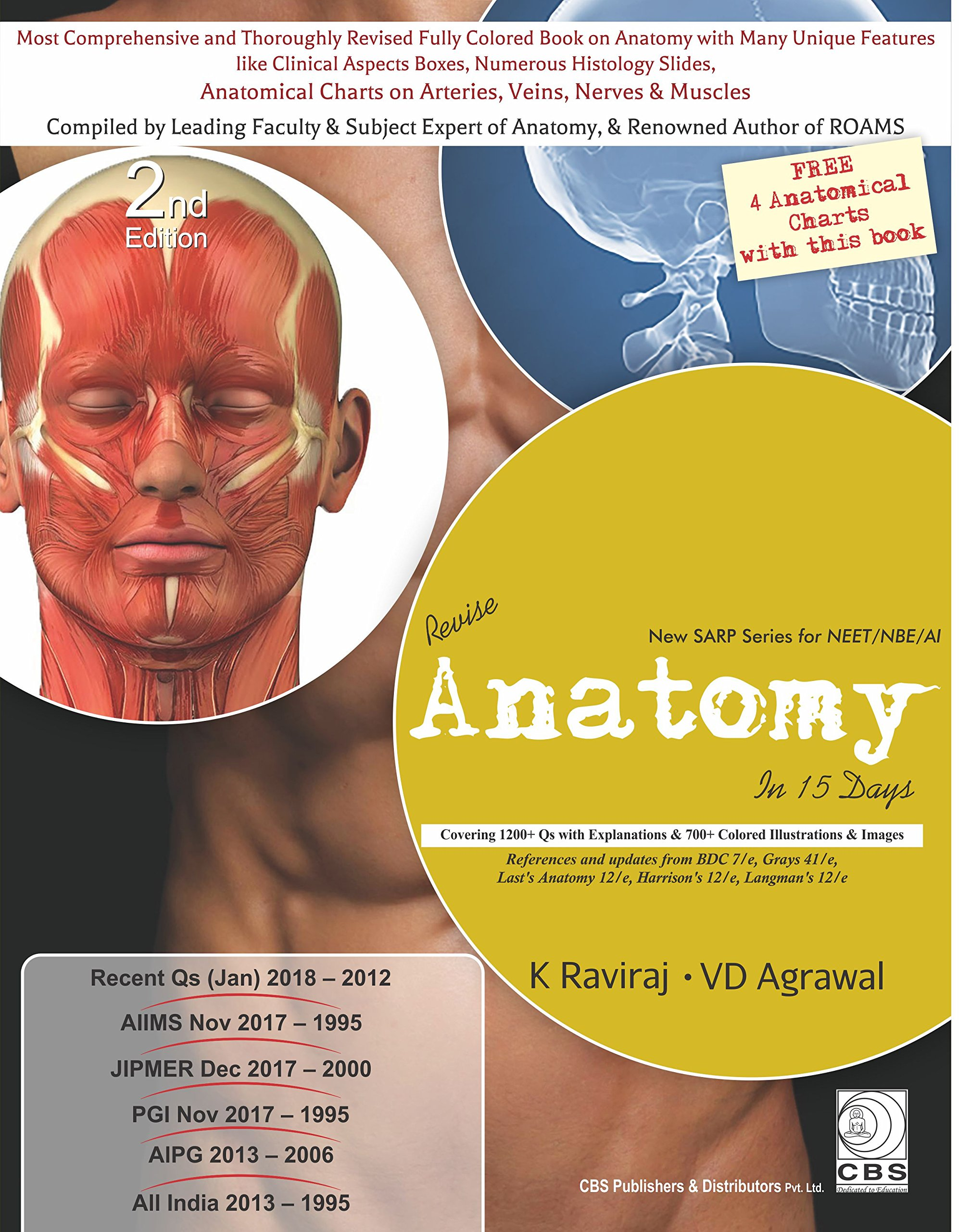 Buy Revise Anatomy in 15 Days (New SARP Series for NEET/NBE