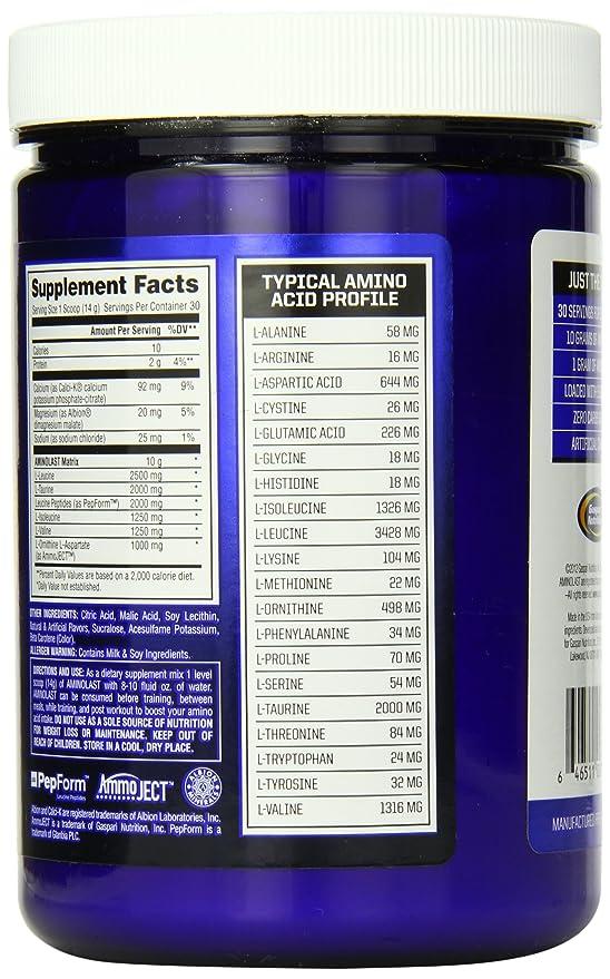 Suplemento Gaspari Nutrition Aminolast en polvo: Amazon.es: Salud y cuidado personal