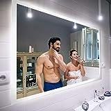 FORAM Espejo de Baño con Iluminación LED - Luz Espejo de Pared con Accesorios - Diferentes tamaños para Baño Dormitorio…