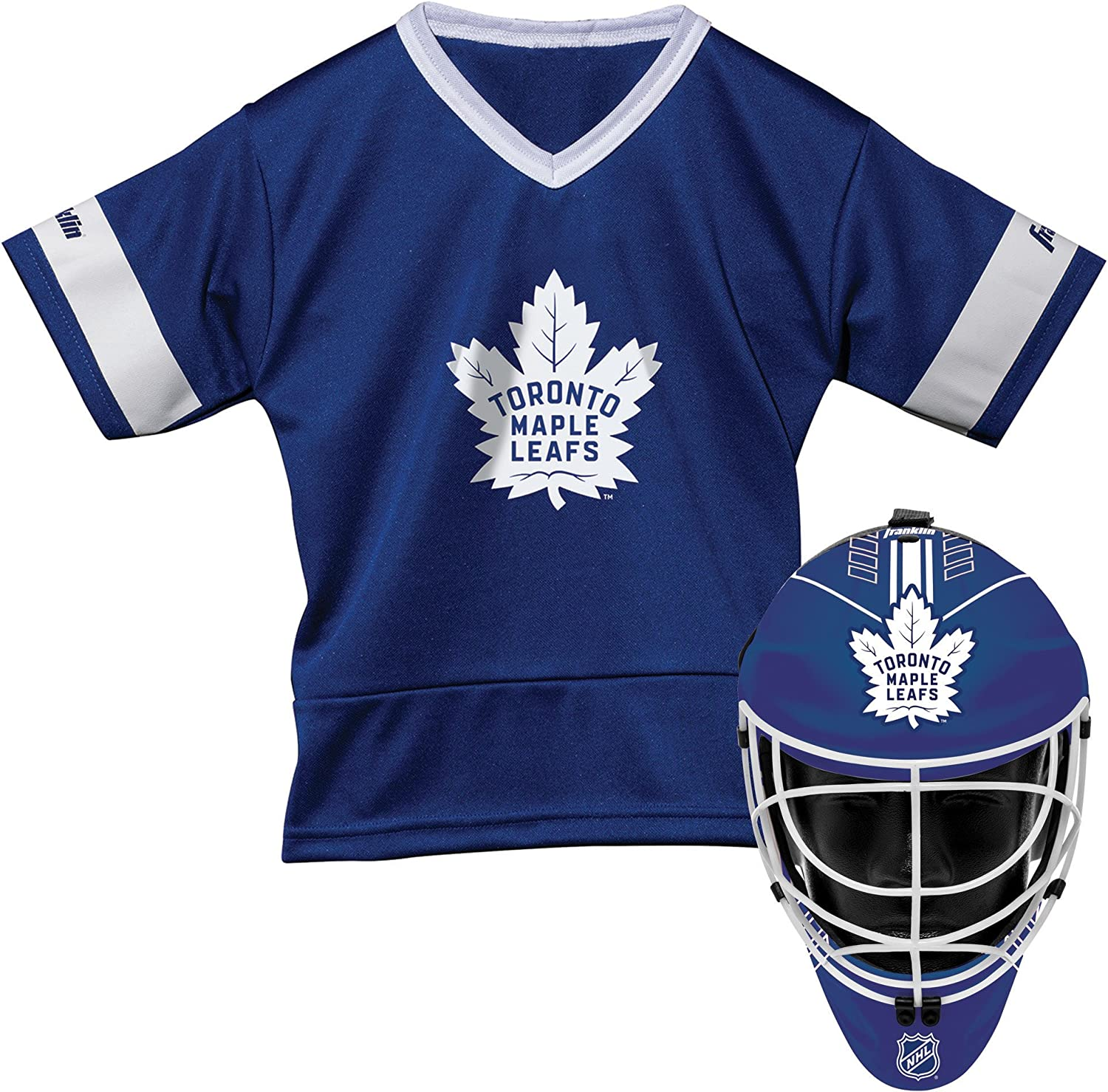 Franklin Sports Toronto Maple Leafs Kids Hockey Costume Set NHL Official Licensed Product Halloween Fan Outfit Youth Jersey /& Goalie Mask
