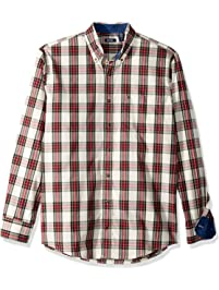4a02a7ac0884 IZOD Men s Big and Tall Tartan Button Down Non Iron Plaid Long Sleeve Shirt