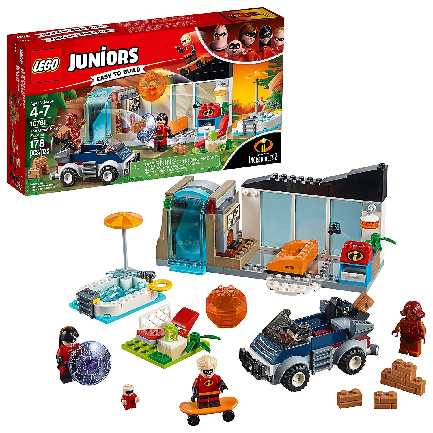 LEGO Juniors/4+ The Incredibles 2 The Great Home Escape 10761 Building Kit (178 Piece) 6213862
