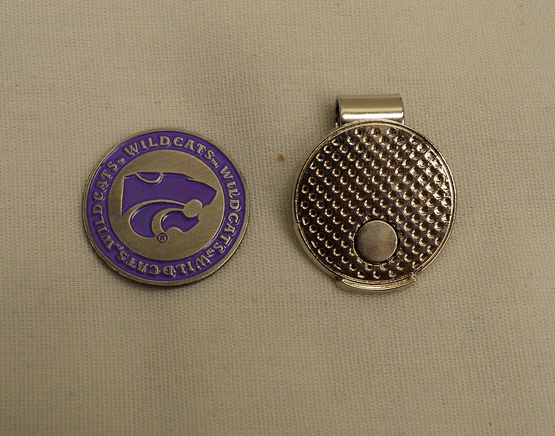 NCAA Kansas State Universityゴルフボールマーカーwith磁気帽子クリップ   B072Y8QMY7