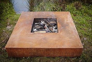 120 cm acero cor fuego mesa cuadrada, plato bakaware, fuego quemador bakaware plato,