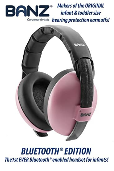 Amazon Com Baby Banz Bluetooth Earmuffs Hearing Protection Ages 0 2 Years Best Headphones For Babies Toddlers Block Noise Play Soothing Sounds Music Audio Books Movies Pink Bluetooth Edition Baby