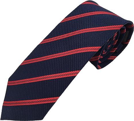 corbatas de hombre rayas azul rojo - 100% seda - corbatas de ...