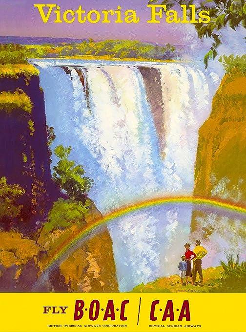 Amazon.com: Victoria Falls Zimbabwe África Africano clásico ...
