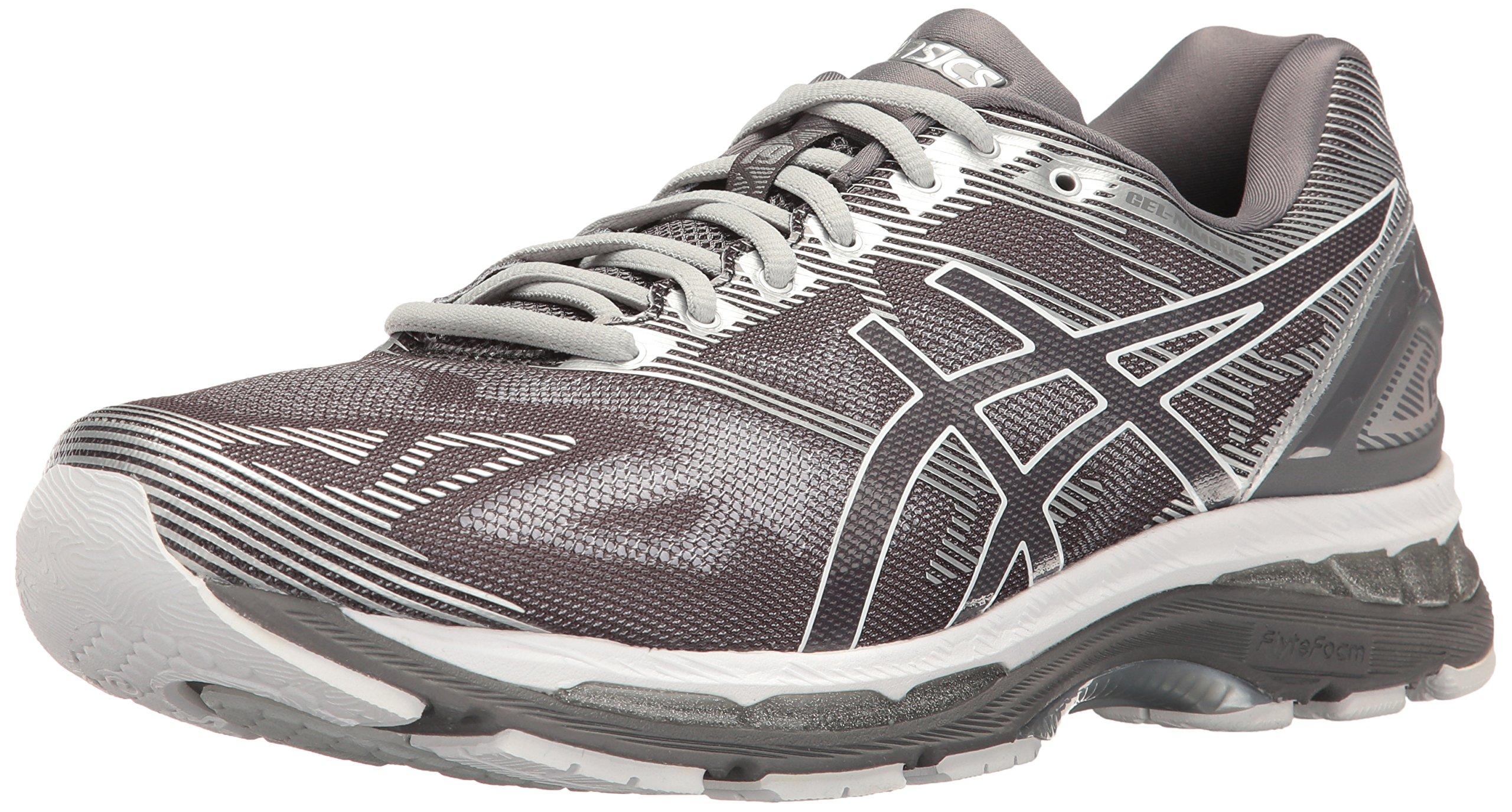 low priced 58d1e c3ac5 ASICS Men's Gel-Nimbus 19 Running Shoe, Carbon/White/Silver, 14 4E US