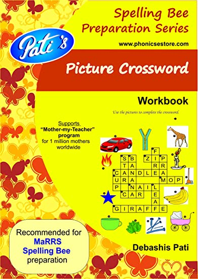 Pati's Picture crossword book - Spelling Bee help workbook for children -  English