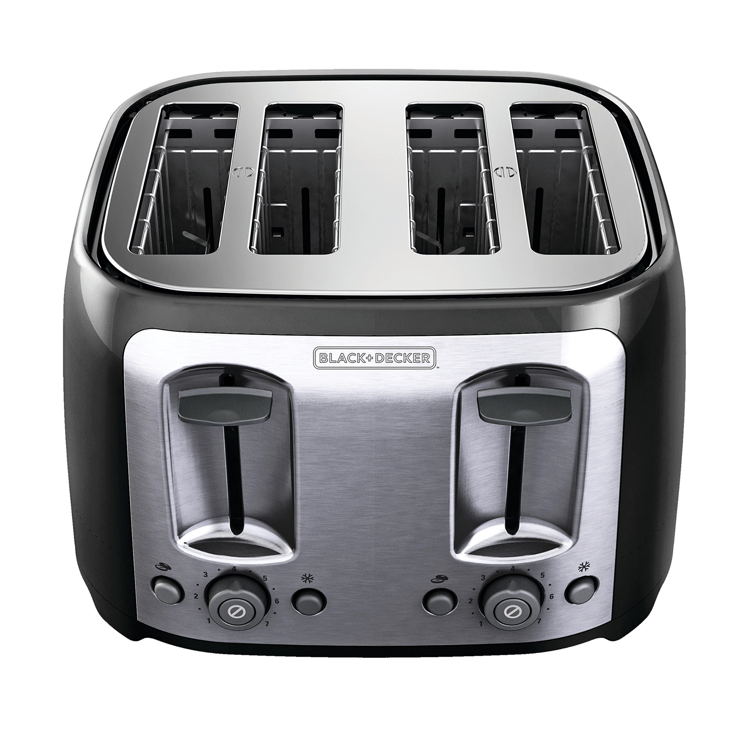 BLACK+DECKER 4-Slice Toaster, Classic Oval, Black with Stainless Steel Accents, TR1478BD by BLACK+DECKER (Image #7)