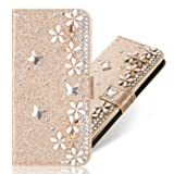 Diamond Wallet Leather Case for Huawei Honor