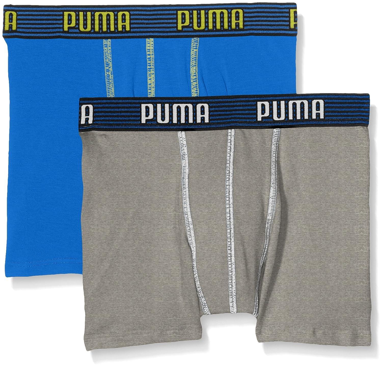 Puma ragazzi mutande elastico a righe di base Boxer 2 P 665003001