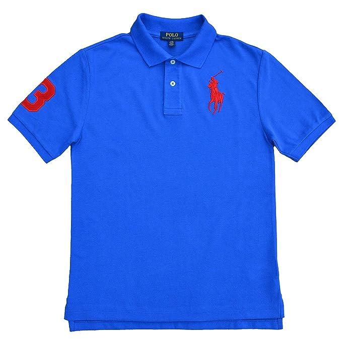 Ralph Lauren - Polo para Chico, Color Azul Blau/Blue Large: Amazon ...