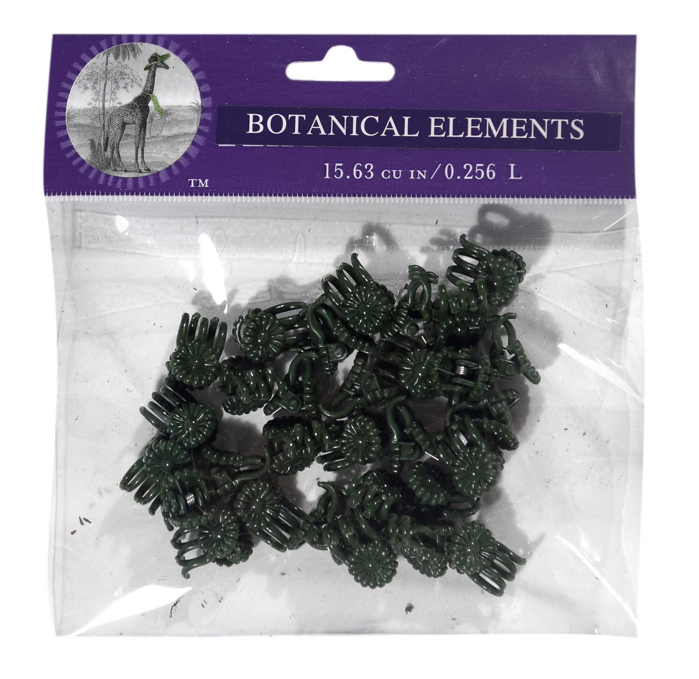 Super Moss 90541 Daisy Orchid Clips, Green, Small, Pack of 30