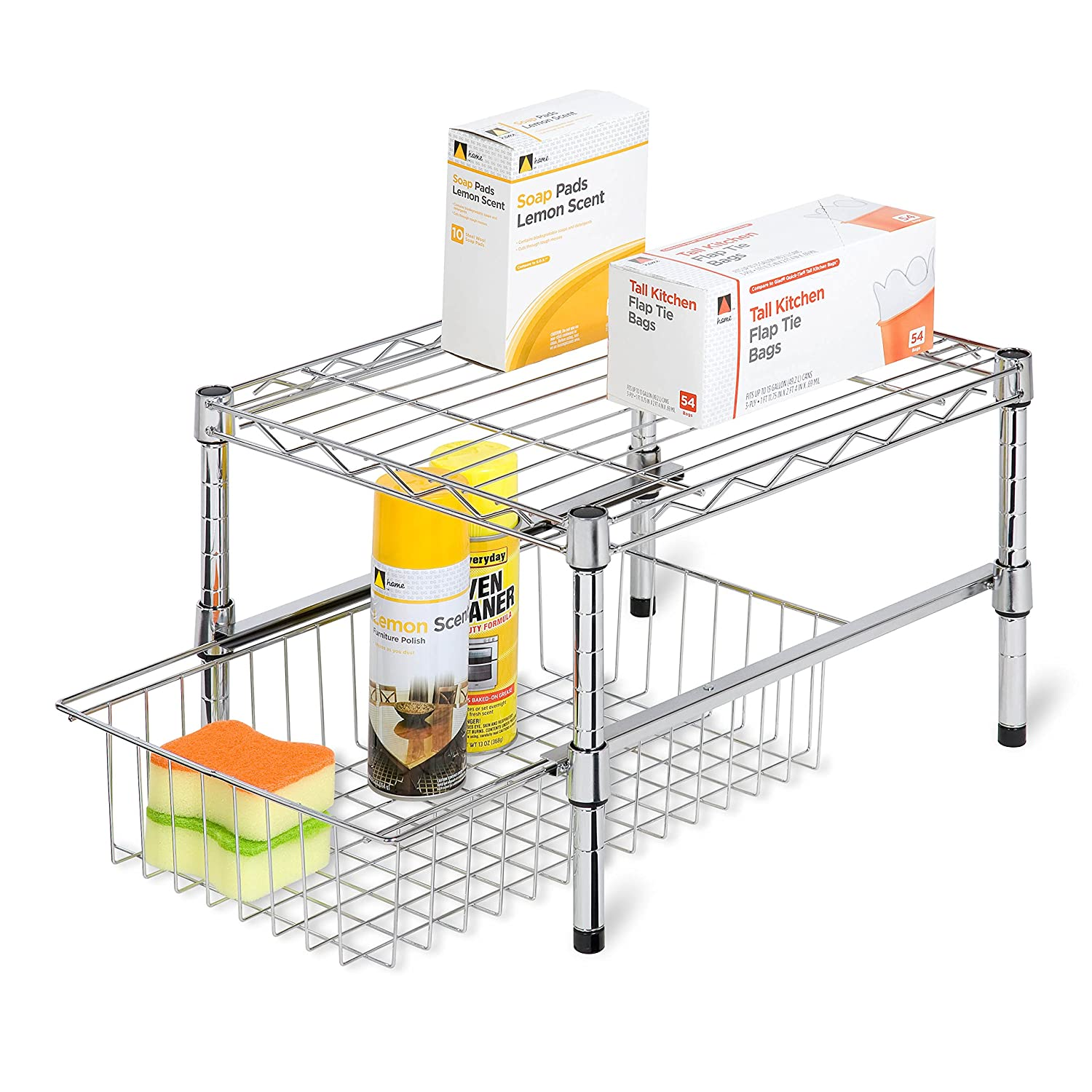 honey can do crt 3 shelf rolling media cart with