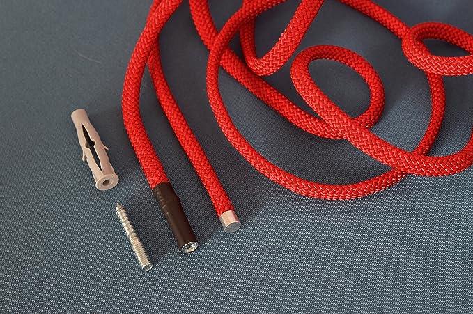 Peppermint Products Guardaroba regolabile da appendere Loop Rope in corda giallo.