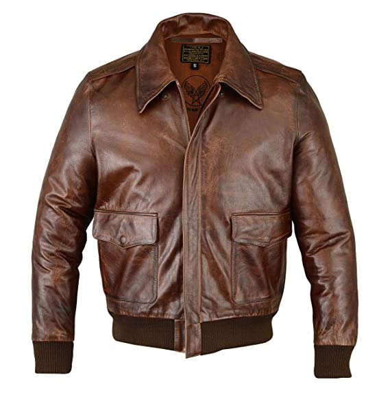 37f45d082 FiveStar Leathers Men's Air Force A-2 Leather Flight Bomber Jacket
