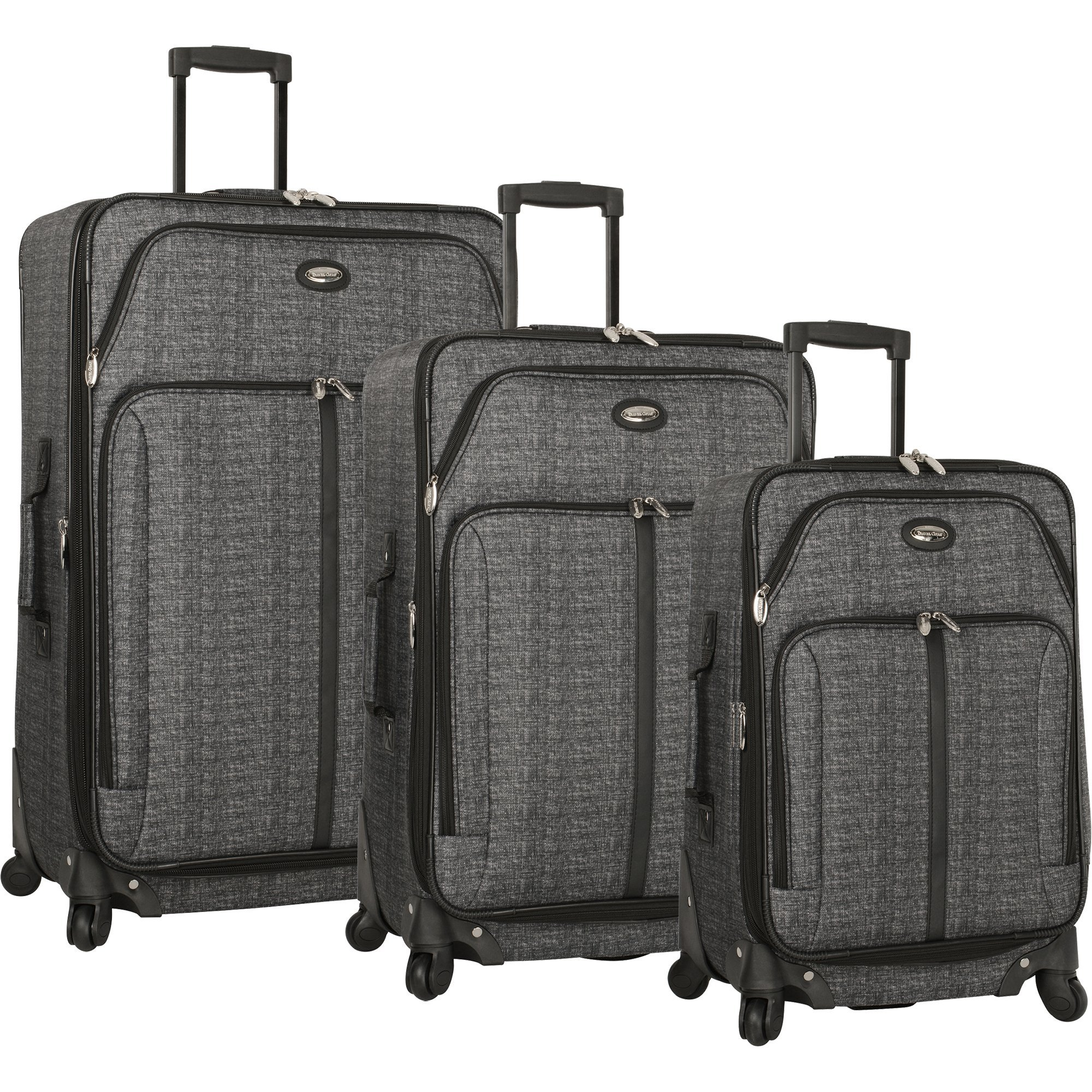 Travel Gear Triton 3 Piece Expandable Spinner Luggage Set