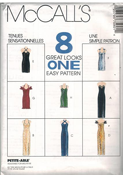 51a84b1e81 Image Unavailable. Image not available for. Color  7590 McCalls Sewing  Pattern UNCUT Misses Dress Evening Gown Size ...