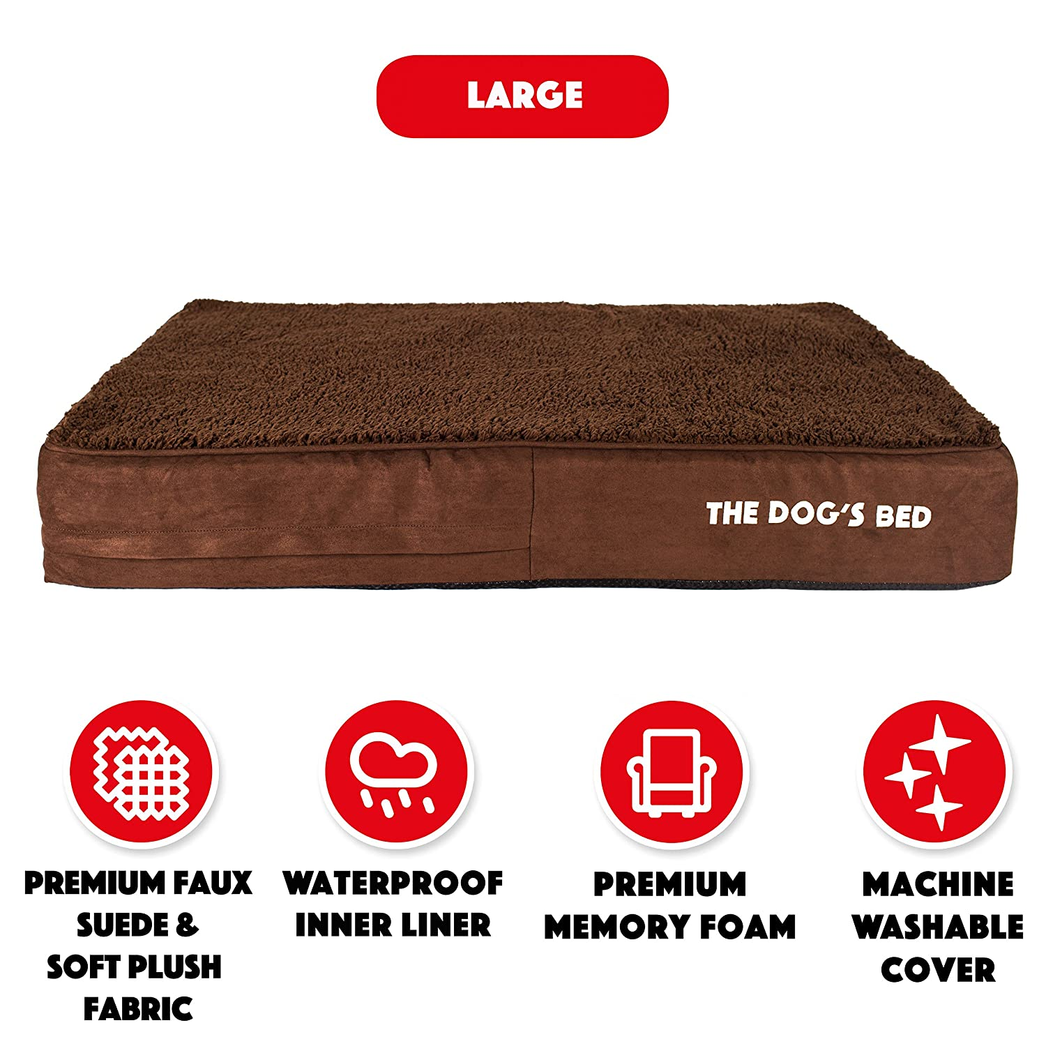 574ac694694 The Dog's Bed, Premium Orthopedic Memory Foam Waterproof Dog Beds, Eases  Pet Arthritis, Hip Dysplasia & Post Operation Pain, Quality Therapeutic  Supportive ...