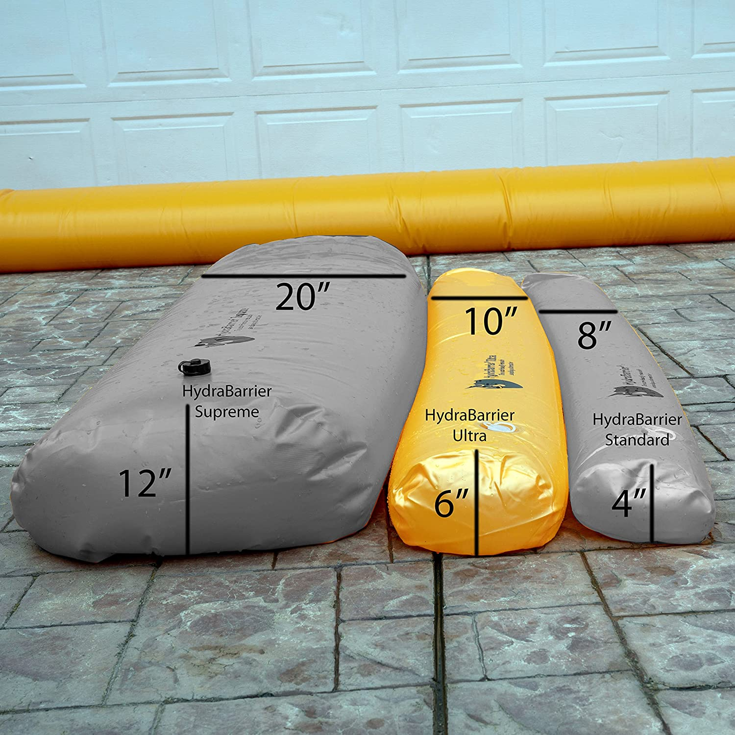 Re-usable and Eco-friendly Best Sandbag Alternative Hydrabarrier Ultra 12 Foot Length 6 Inch Height - Water Diversion Tubes That Are the Lightweight Single Unit
