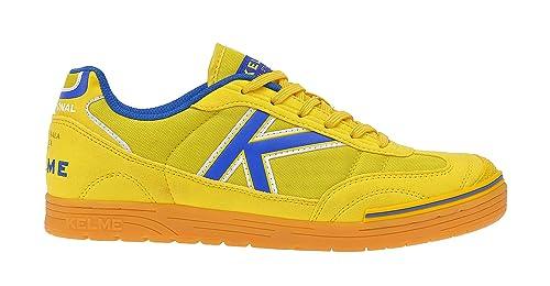 Kelme Trueno Sala, Botas de fútbol Unisex Adulto, Amarillo (Yellow), 36