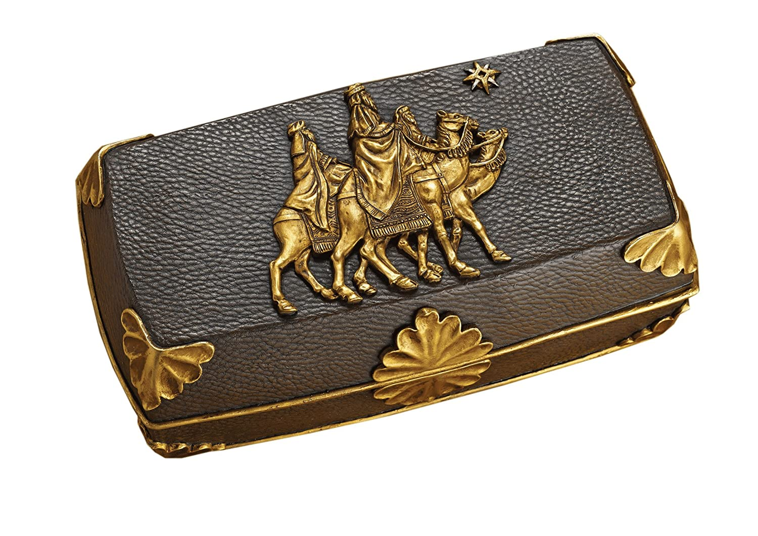 Gold Frankincense Myrrh Music Box