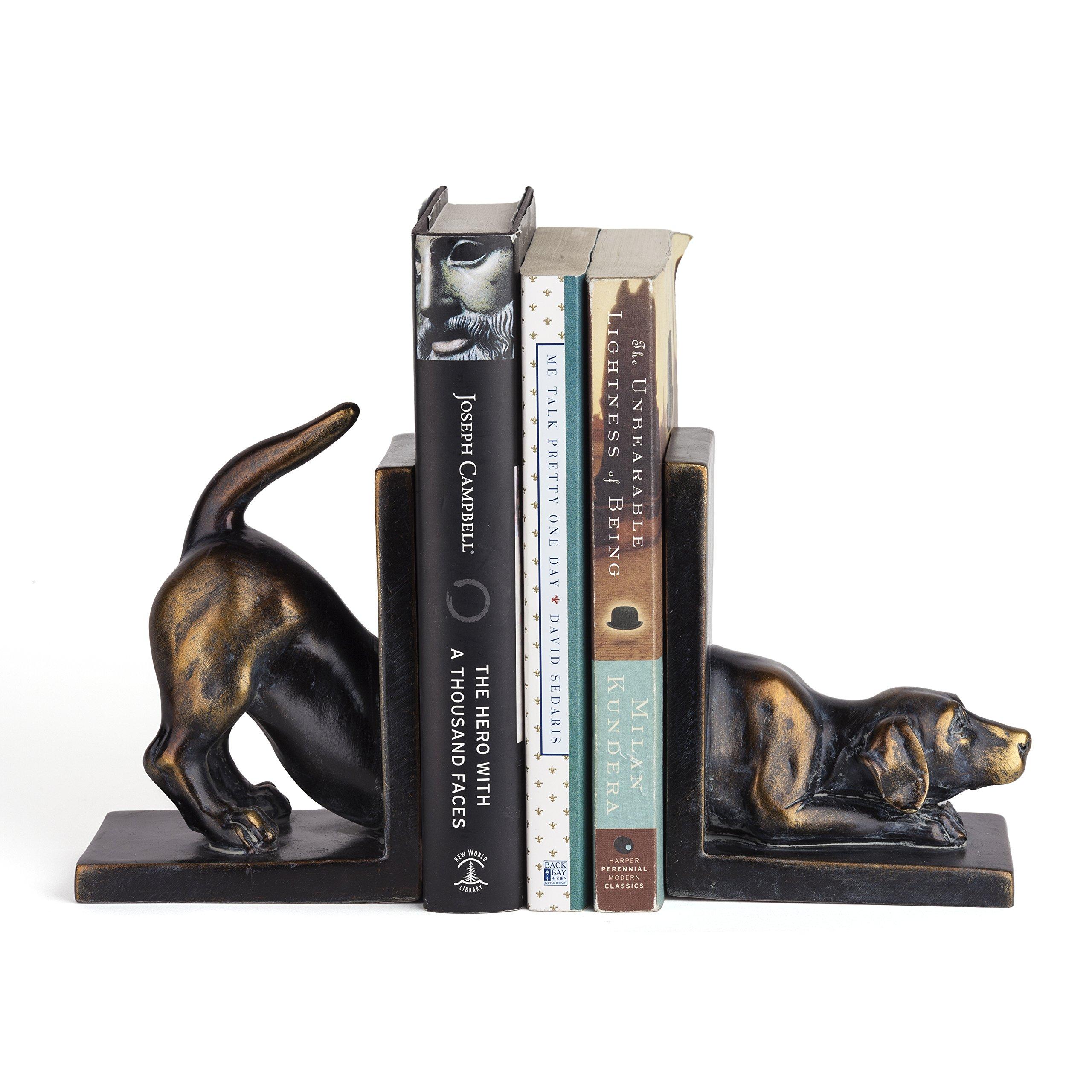 Danya B. DS782 Unique Decorative Animal Shelf Décor - Labrador Dog Bookend Set by Danya B