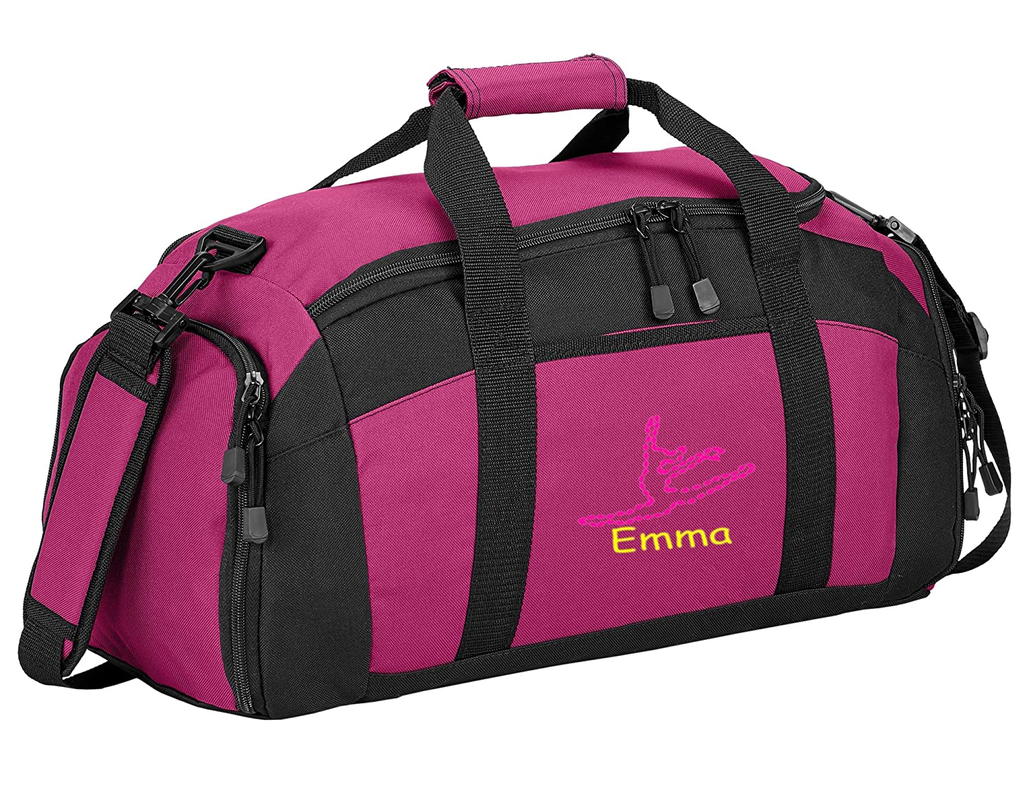 all about me company Personalized Dance Gym Sports Duffel Bag Navy