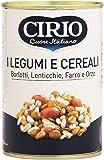 Cirio - Legumi e Cereali, Borlotti, Lenticchie, Farro e Orzo - 4 pezzi da 410 g [1640 g]