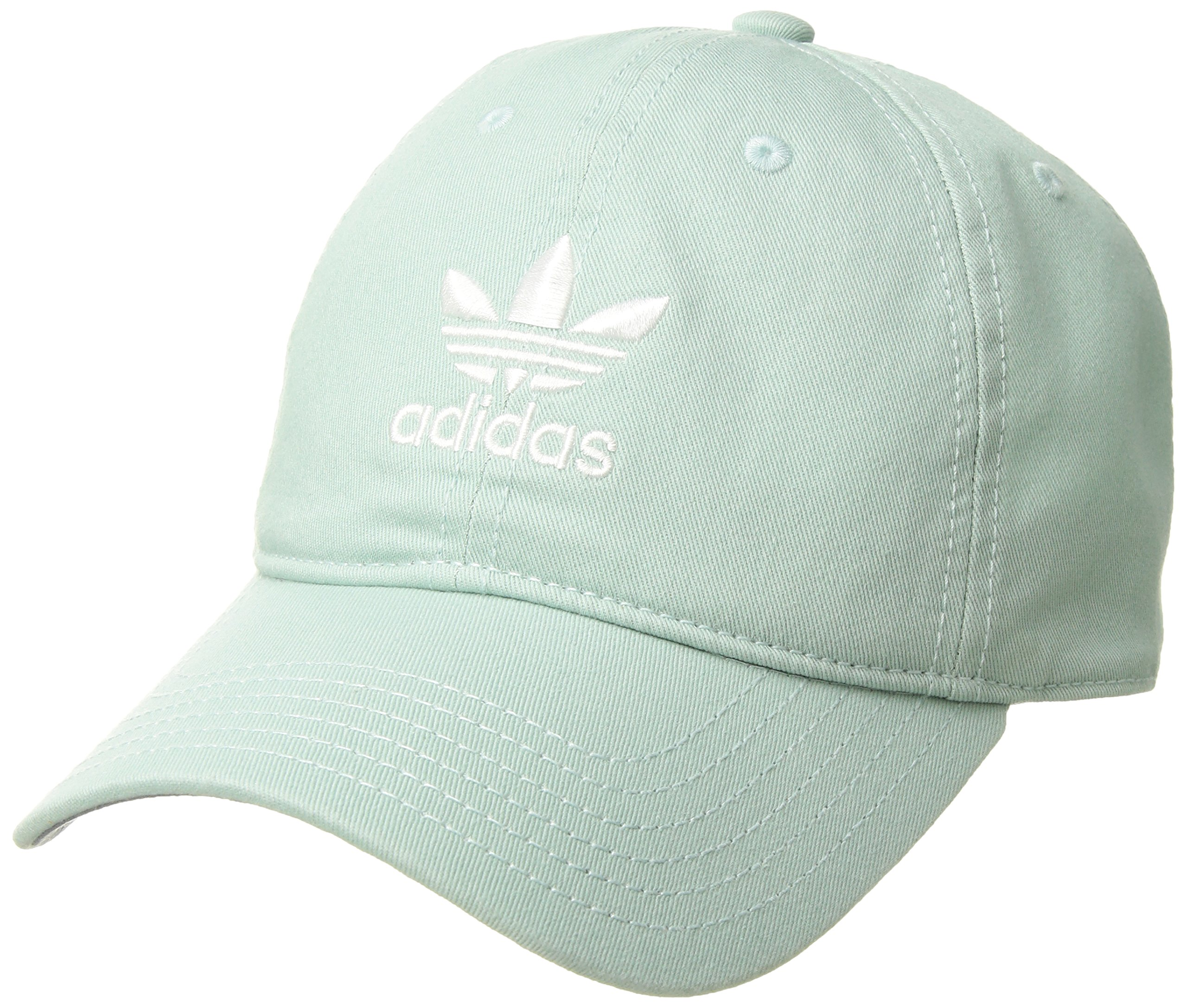 adidas Women's Originals Relaxed Fit Strapback Cap, Ash Green/White, One Size