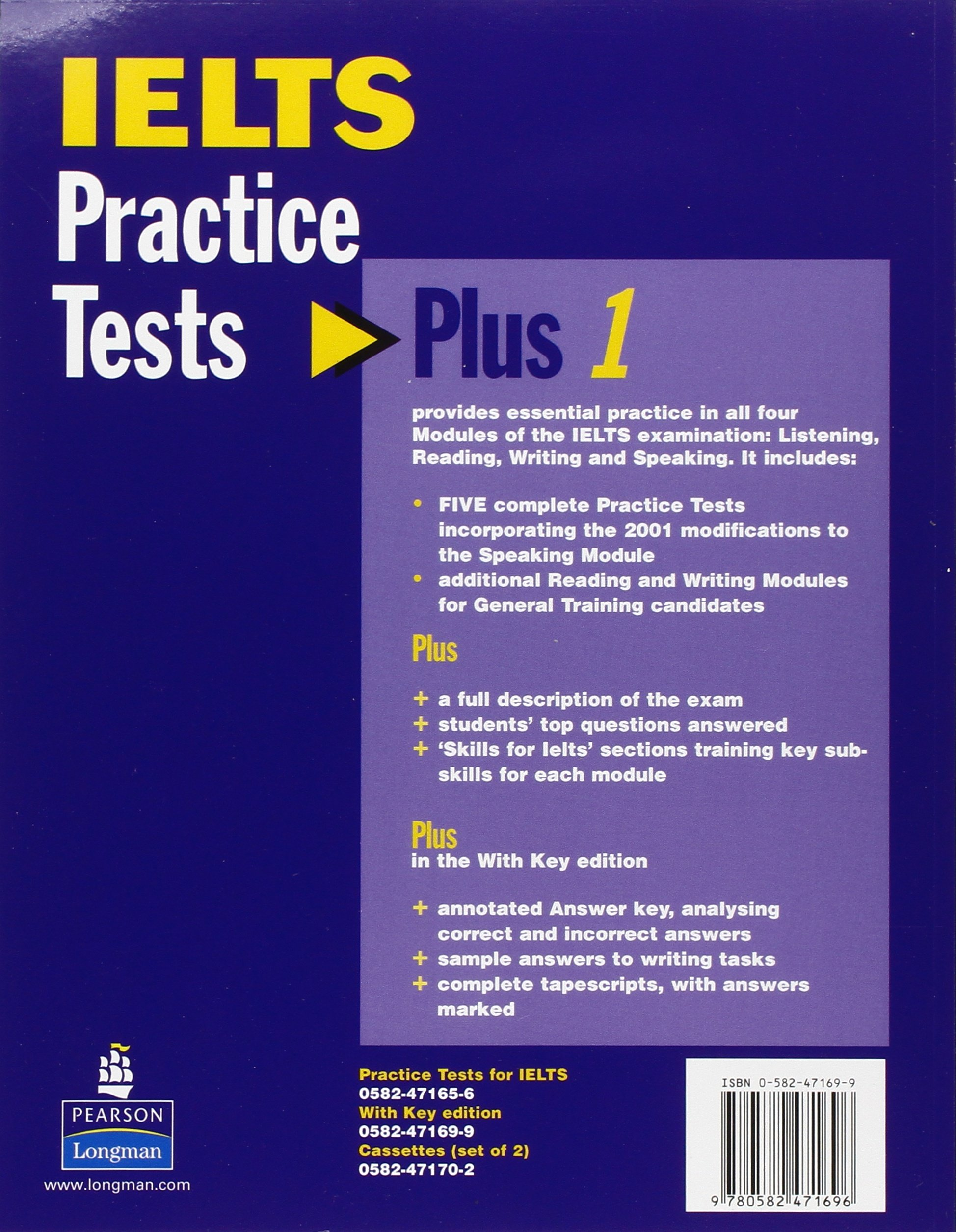 Practice tests plus ielts with key amazon co uk vanessa jakeman clare mcdowall 9780582471696 books