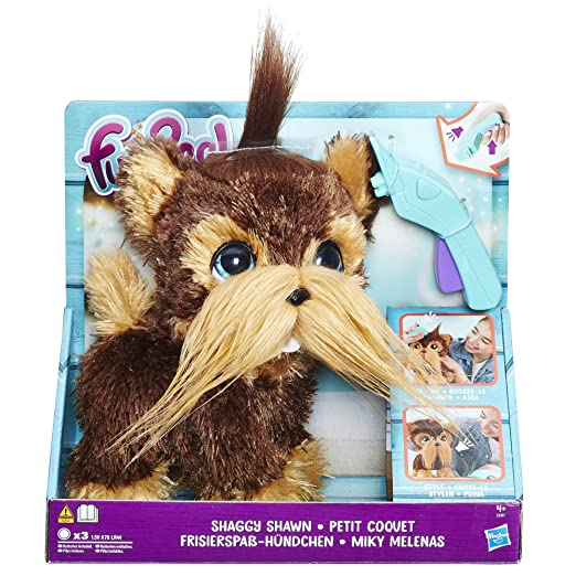 Amazon.es: Furreal Friends Shaggy Shawn Luky Melenas, Color marrón (Hasbro E0497EU4)