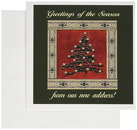 3drose christmas tree with stars from our new address greeting cards set of 12