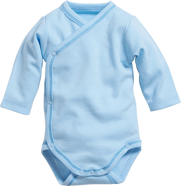 Schnizler Baby-Boys Wrap-Around Long Sleeve Bodysuit