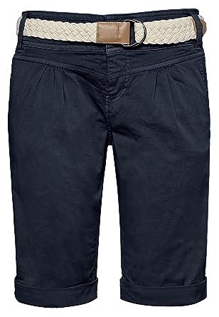 Fresh Mit Made Im Damen Style Chino Bermuda Gürtel Flecht Shorts 76IgfvmbYy