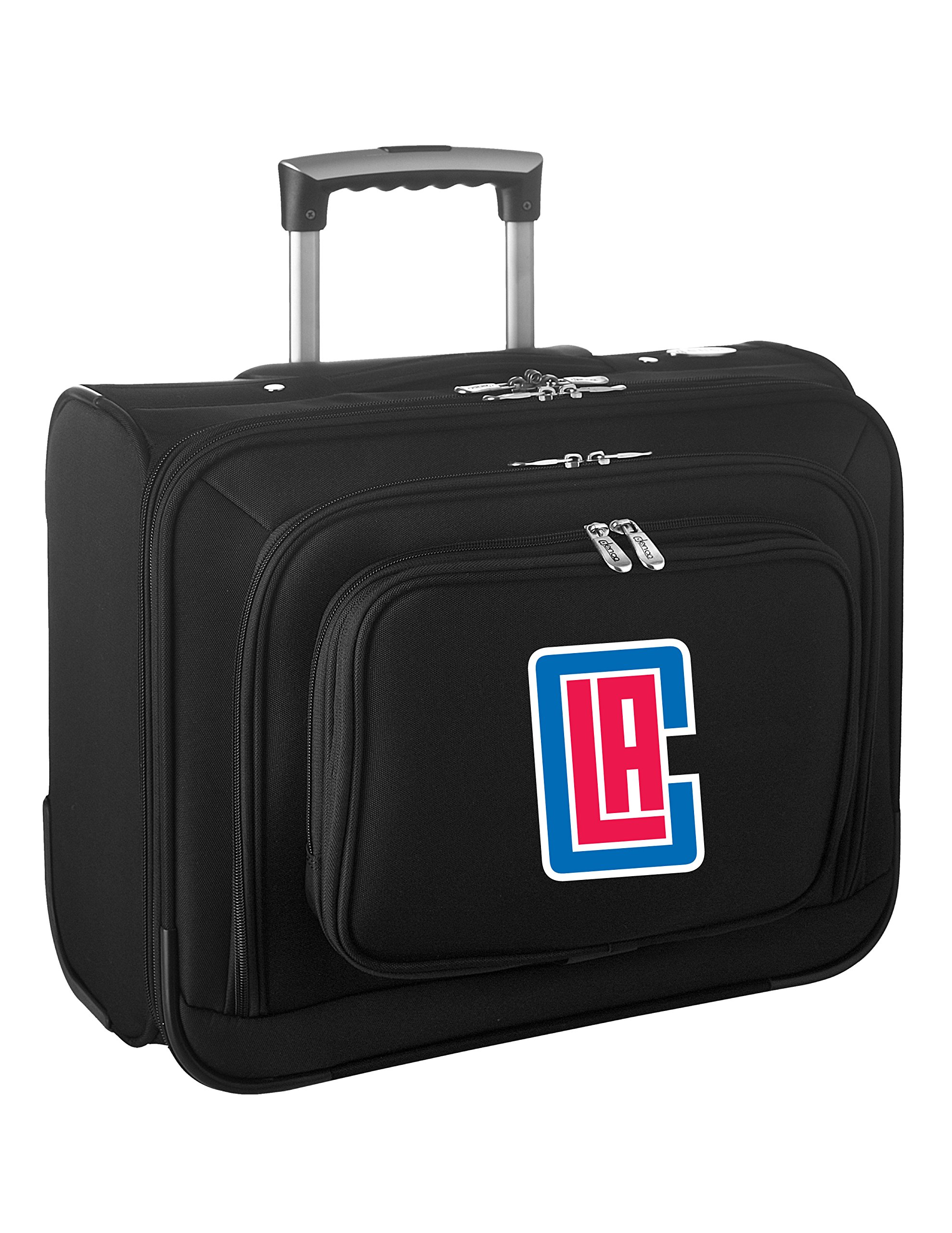 Denco NBA Los Angeles Clippers Wheeled Laptop Overnighter