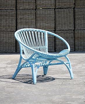 Último: silla de mimbre, azul claro: Amazon.es: Hogar