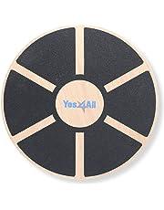Yes4All Tabla de Equilibrio de Madera – Entrenador de Estabilidad de Equilibrio de Ejercicio de 15.75 Pulgadas de diámetro