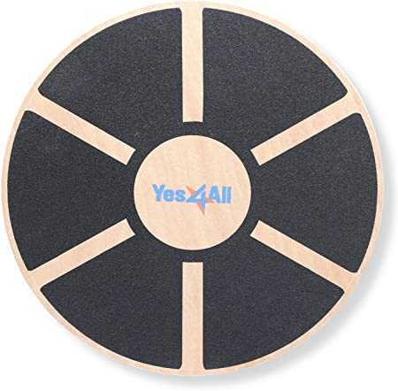 front facing yes4all wooden wobble balance board