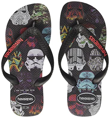 Unisex Adults Star Wars Flip Flops, Black/Red Havaianas