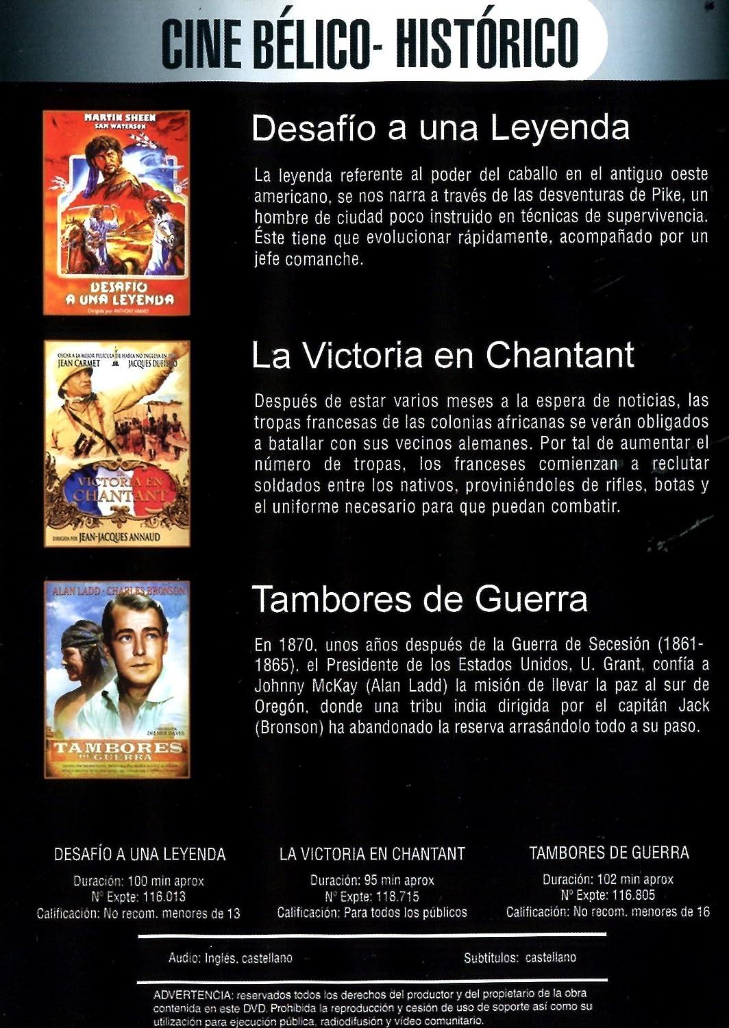 Desafio a una leyenda Yo, gran cazador / Tambores de guerra / La victoria en Chantant: Amazon.es: Anthony Harvey, Delmer Daves, Jean-Jacques Annaud: Cine y ...