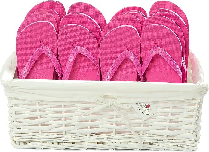 Zohula Pink Originals Flip Flop Party Pack - 20 Paar ([2XS][15xM][3XL])