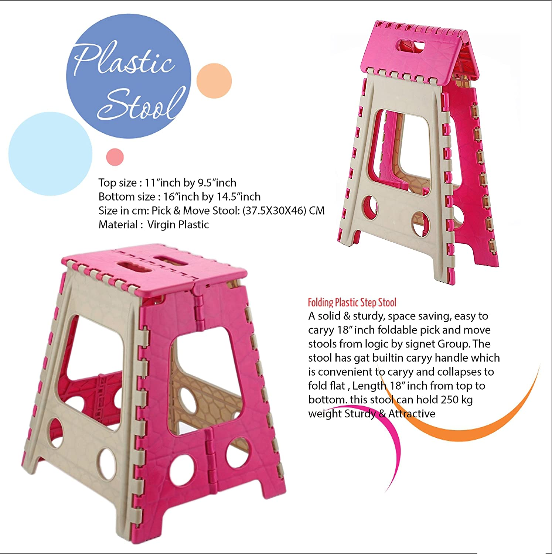 Excellent Primelife High Quality Portable Folding Plastic Step Stool Creativecarmelina Interior Chair Design Creativecarmelinacom