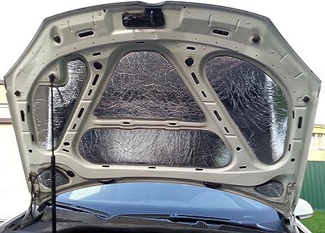 Laviline Auto Sound Noise Buffler 20 Abstumpfung Unter Der Motorhaube Hitzebeständig Dämpfer Von 20 Mm 2 X 980 X 490 Mm 0 96 M Insgesamt Auto