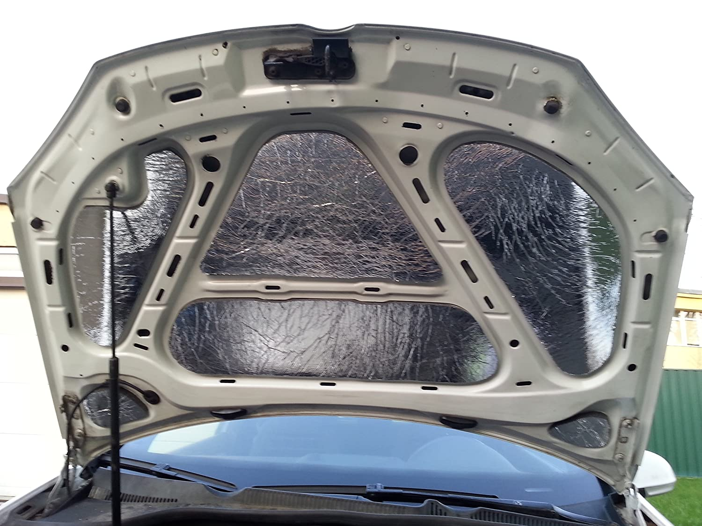 Laviline Car Sound Noise Buffler 20 Deadening Under Bonnet Hood Sound Proofing Heat Proof Absorber 20mm 2pcs x 980mm x490mm (10.33 Square feet Total) AP00SP4555x